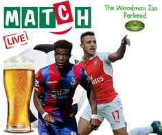 Live Footy at the Woody! Crystal Palace v Arsenal Kick Off: 8pm Come in and join us for all the action.. :-) #thewoodmaninn #forestofdean #football #happymonday #arsenal #crystalpalace www.thewoodmanparkend.co.uk