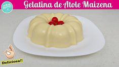 Como hacer Gelatina de MAIZENA / Gelatina de Maizena Sabor Vainilla / Ge... Jello Cake, Gelato, Recipies, Deserts, Food And Drink, Make It Yourself, Cooking, Brownies, Crochet