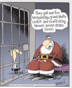 Mystery Fanfare: Cartoon of the Day: Santa's Crimes