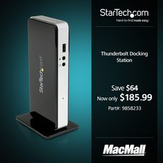 Save $64 on a Thunderbolt docking station for #MacBookPro and #MacBookAir at MacMall.