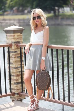 Fashionably Kay in a Deb Shops skater skirt