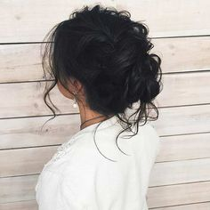 Curly & Messy Updo for Long Hair