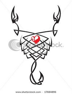 Possible tattoo?  I love the heart since scorpios are so passionate in so many ways.