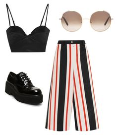 """""""Stripes At The fair"""" by sweetsihamnoor on Polyvore featuring Dolce&Gabbana, Michael Lo Sordo, Chloé and Steve Madden"""