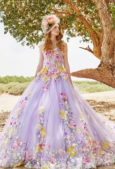 tiglily 2018 bridal strapless semi sweetheart neckline full embellishment princess purple color ball gown a  line wedding dress (vivian) mv -- TIGLILY 2018 Wedding Dresses