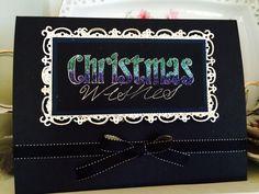 Christmas card glitter