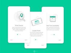 Onboarding walkthrough screens – Make Mobile Applications Ios App Design, Mobile App Design, Web Design, Design Sites, Logo Design, Mobile App Ui, User Interface Design, Flat Design, Graphic Design