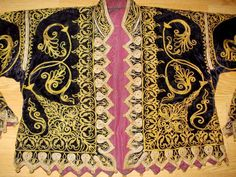 19 th ottoman silk velvet jacket rare