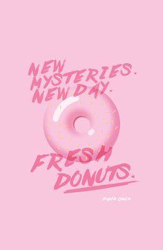Donut - David lynch Quote  Art Print