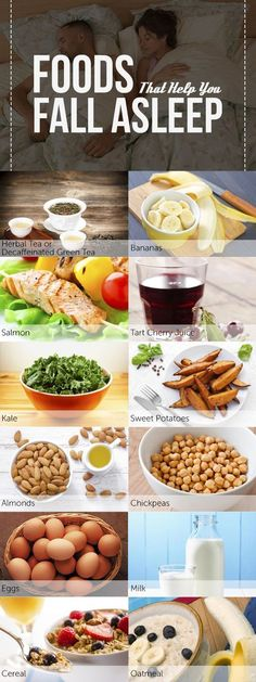 12 Foods That Help You Fall (and Stay) Asleep Typically overlooked, one way to improve sleep is through diet: Just choose foods that can help you get more rest. Here are 12 foods that will help yo. Healthy Eating Recipes, Healthy Snacks, Banana Cinnamon Tea, Food For Sleep, Tart Cherry Juice, Sleep Remedies, Insomnia Remedies, Sleep Help, Natural Sleep