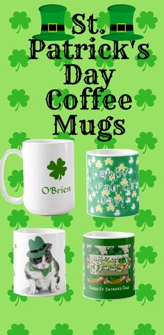 St. Patricks Day coffee mugs gift