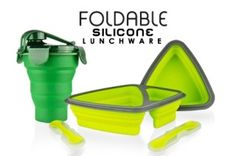 Foldable Silicone Lunchbox and Cup
