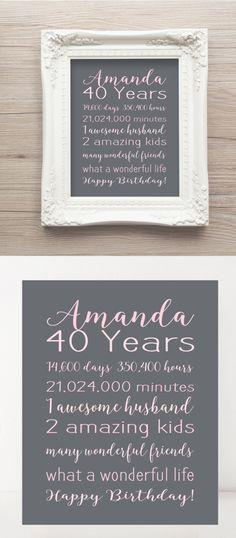 40th Birthday Ideas Nz