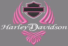 Pink Harley Davidson Logo | Pink Winged Harley Davidson Embroidery design: Single Designs - - Kewl ...