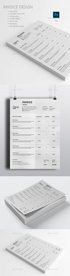 Buy Invoice Design by graphicalark on GraphicRiver. Invoice Template Design is very easy to use and change text,color,size,look and everything. Invoice Design Template, Letterhead Design, Stationery Design, Branding Design, Corporate Design, Quotation Sample, Quotation Format, Layout Design, Print Design