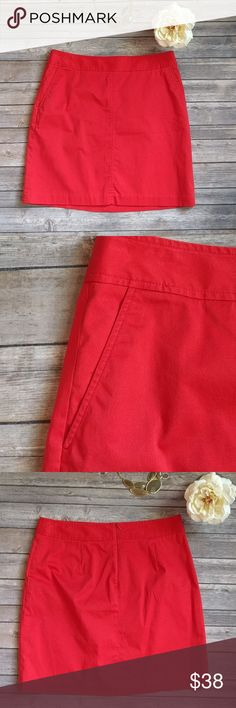 Banana republic trina turk collection Beautiful red skirt by Trina Turk for banana This is a true Pantone red. 16.5 inches so a 33 waist Would fit a 10/12 Trina Turk Skirts