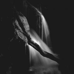Vaioaga Waterfall by Alexandru Crisan, Photography Pigment Ink, Waterfall, Fine Art Prints, Black And White, Landscape, Artist, Online Purchase, Photography, Outdoor