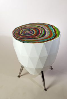 Modern end table, color