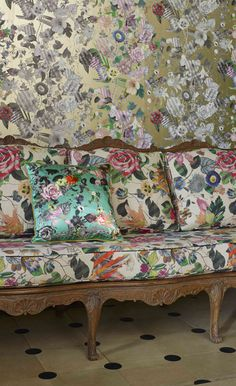 Patterns and prints - colorful fabric crush!  Christian Lacroix - Maison - Art de vivre