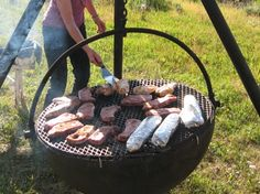 Cooking at Cauldron Fire Pit