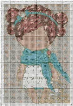 magic dolls cross stitch pinterest - Поиск в Google Baby Cross Stitch Patterns, Cross Stitch For Kids, Cross Stitch Charts, Cross Stitch Designs, Cross Stitching, Cross Stitch Embroidery, Stitch Character, Stitch Doll, Needlework