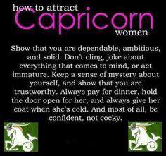 what pleases capricorn women