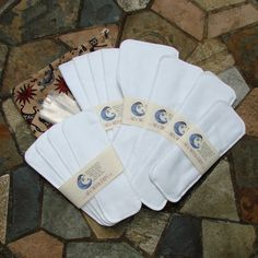 Cloth Menstrual Pads Emergency Preparedness Kit - WHITE. $75.00, via Etsy.  Not a fun topic but necessary for the plan.