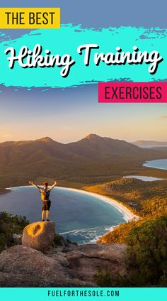 We have put together the ultimate list of exercises for the best workout plan to train for hiking & backpacking trips. Use this guide for motivation to get in shape, lose weight & build lower body muscle & strength for better hiking outdoors. Proper training will prepare you for safe, fun, comfortable hikes with less risk of injury. Learn our tips & ideas for beginners, women & men & runners with a focus on cardio, endurance & balance. #training #exercises #workout #hiking Fuelforthesole.com