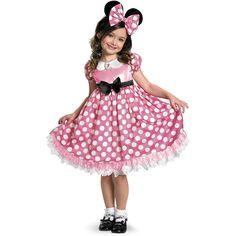 Minnie Mouse Costume Toddler, Disfraz Minnie Mouse, Minnie Mouse Halloween Costume, Minnie Mouse Pink, Toddler Halloween Costumes, Disney Halloween, Minnie Mouse Clothes, Mini Mouse Costume, Minnie Bow