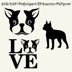 Download Boston Terrier SVG and DXF Cut File for by ...