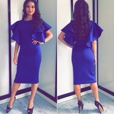 Feida Party dresses Women Long Sleeve Sexy Short Sleeve Office Dress Red Blue Dress Plus size women Clothing
