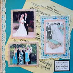 Scrapbooking Layouts | wedding scrapbook photo Scrapbook: Memorable Wedding Photo