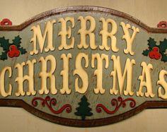 Merry Christmas Sign Wood Christmas Sign Christmas Decor Christmas Decoration Holiday Decor Farmhouse Christmas Merry Christmas Decorating