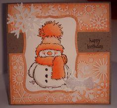 Homemade Christmas Cards, Christmas Cards To Make, Xmas Cards, Holiday Cards, Penny Black Karten, Penny Black Cards, Winter Karten, Snowman Cards, Snowflake Cards