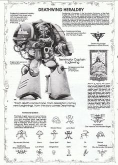 In the grim future, there is only war. Warhammer 40k Art, Warhammer 40k Miniatures, Warhammer Fantasy, Warhammer Games, Fantasy Fiction, Sci Fi Fantasy, Dark Angels 40k, 40k Armies, Lego Knights