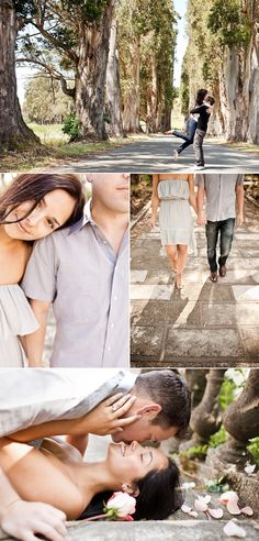 Cute engagement photos! I'm so using these poses for my military photo shoot (: