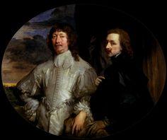 Endymion Porter avec le Peintre. 110x114 cm. Anthonis van Dyck (1599–1641) (Antoon van Dyck, Anthony van Dyck)