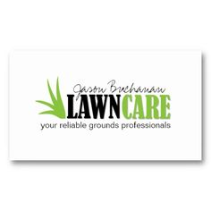 lawn care and yard maintenance business card - Lawn Service Business Cards