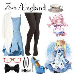 """Fem!England (hetalia)"" by isabel-kitty-marie on Polyvore"