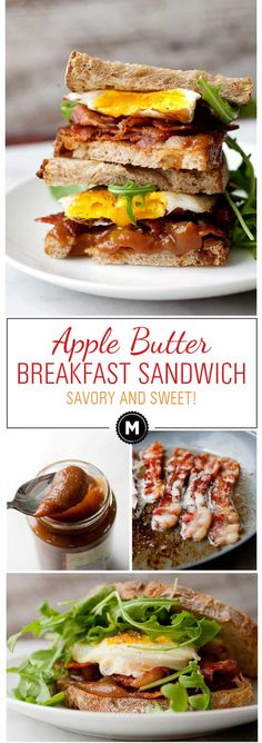 Apple Butter Breakfast Sandwich ~ Macheesmo
