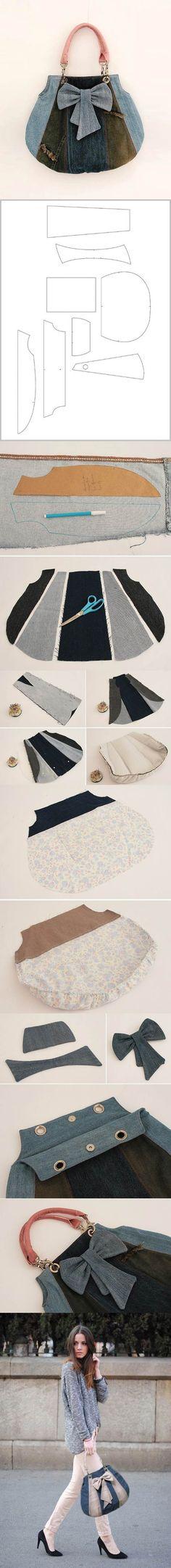 DIY Fashionable Handbag from Old Jeans | iCreativeIdeas.com LIKE Us on Facebook ==> https://www.facebook.com/icreativeideas