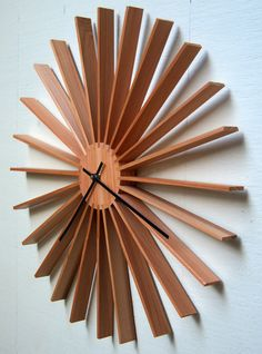 Modern Star Burst Wall Clock by djwubs on Etsy, $70.00