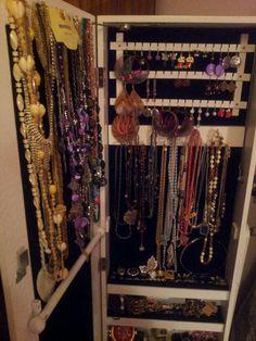 My organised jewelry cupboard