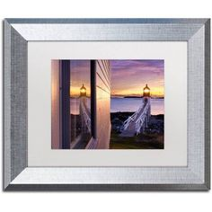 Trademark Fine Art Looking Glass Canvas Art by Michael Blanchette Photography White Matte, Silver Frame, Size: 11 x 14, Assorted