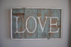 Love Wall Hanging by 50stars on Etsy, $55.00