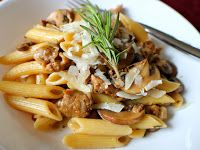 Penne Marsala with Sausage