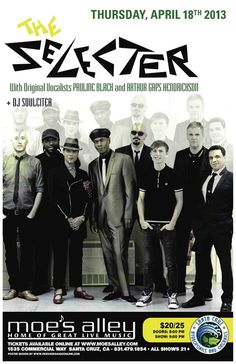Santa Cruz, CA Buy your tickets early and don't miss this rare debut performance with Britains 2-Tone ska legends The Selecter. This will be their first US tour in 10 years and features both original vocalists Paul… Click flyer for more >>