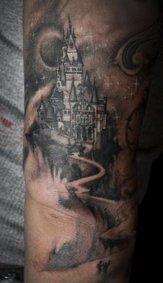 tattoos of castles and wizards | castle tattoo | Tumblr