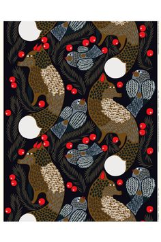 Marimekko fabrics - Buy online from Finnish Design Shop. Discover Unikko and other Marimekko fabrics for a modern home! Large Pillow Cases, Large Pillows, Fabric Design, Pattern Design, Marimekko Fabric, Types Of Curtains, Maximalism, Little Birds, Fabric Online