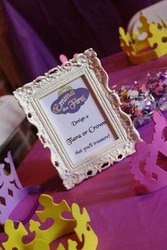 Sofia the first birthday party - decorations princess party tiara crown decorating activity
